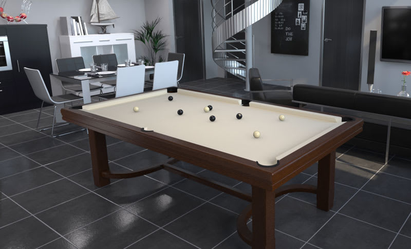 Toulet Cottage Pool Table - Room Shot